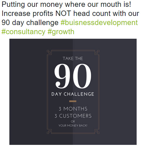 Twitter campaign for sales company